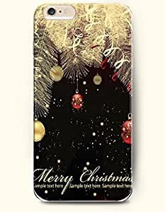 New Case Cover For Ipod Touch 4 Hard Case Cover - Sparkling Christmas Tree and Hanging Christmas Lights