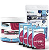"PureClean Performance - Jar (300G) + 15 Packets, Beet root ''superfood"", supporting blood benefits. PLUS FundAminos - BAG (300G), Delicious, VEGAN, essential amino acid powder, naturally flavored"