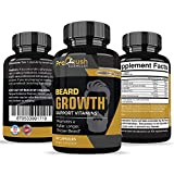 Facial Hair Removal Supplement - Beard Growth Support Supplement- Grow Fuller, Longer, Thicker, Healthier Facial Beard & Mustache Hair. Natural Supplement Vitamin with Biotin for Men.