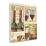 ''French Cellar I'' By Pela, Fine Art Giclee Print on Gallery Wrap Canvas, Ready to Hang