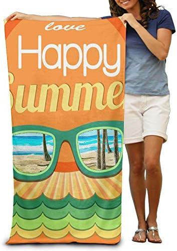 "K-GHAdiy Love Happy Summer Pool Towel 31""x 51"""