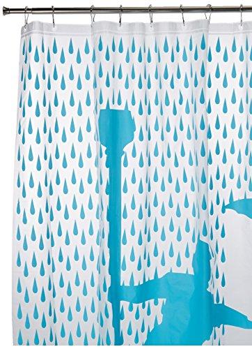 Kikkerland Singin' In The Rain Shower Curtain, 72 by 72-Inch