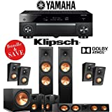 Klipsch RP-280F 5.1.4 Reference Premiere Dolby Atmos Home Theater System with Yamaha AVENTAGE RX-A1070BL 7.2-Channel Network AV Receiver
