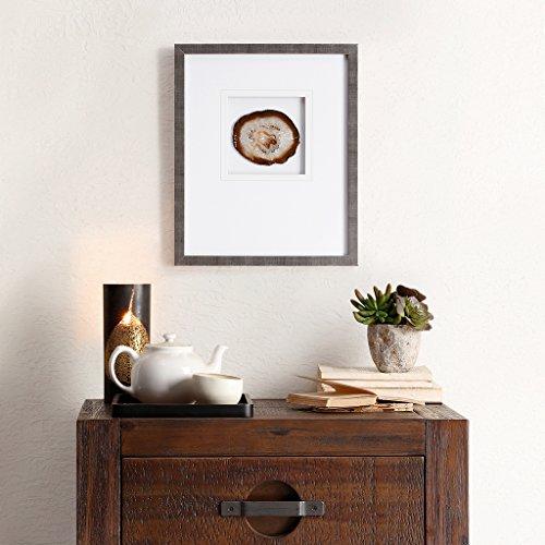Agate Framed Canvas Wall Art 14X17, Global Inspired Wall Décor ()