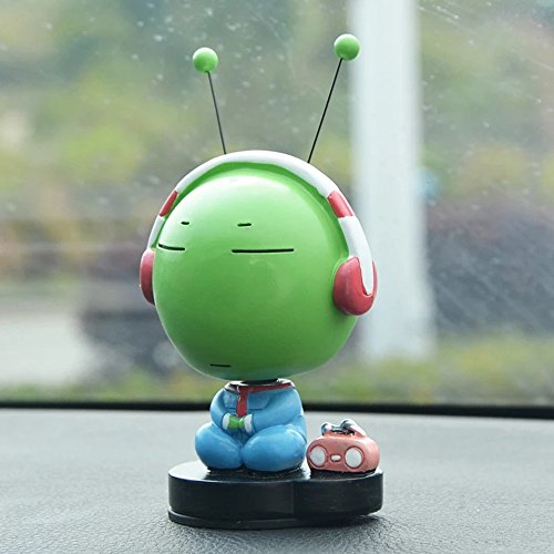 INEBIZ Cute Green Caterpillar Bobble Head Car Dashboard Decorations Doll (Thinking)