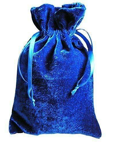 Packaging Bags Suppliers Paper Mart Tarot/Rune Dice Gift Bag Royal Blue Velvet Drawstring Bag 6x9