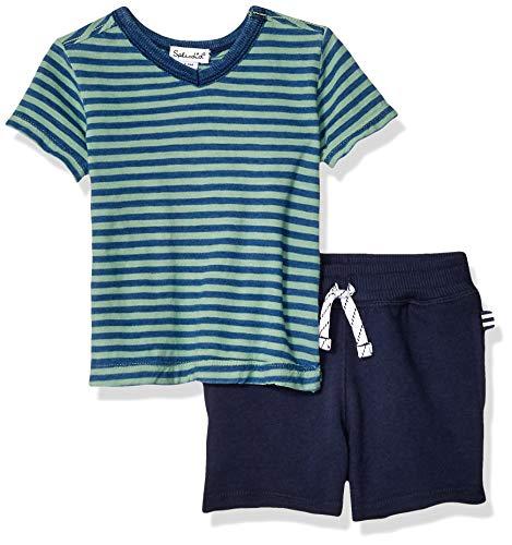 - Splendid Baby Boy Yarn Dyed Indigo Stripe tee Set, Wake Green 12/18