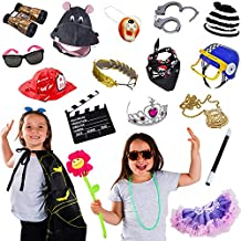 Kids Party Photo Booth Props - 15 Pc Set - Dress Up Props - Pretend Play Costumes - Costume Party by Tigerdoe