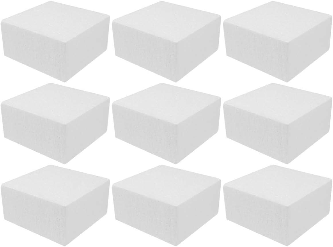 HEALLILY Brique de Mousse de Bloc de Mousse de polystyr/ène carr/é pour Sculpture modelant Bricolage Arts et m/étiers 4pcs
