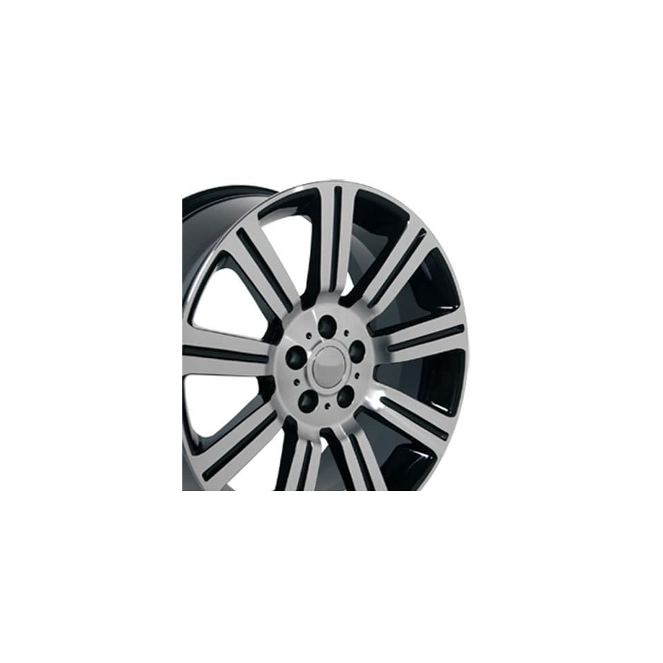 Stormer Style Wheels with Machined Face Fits Land Rover Range Rover   Black 22x10 Set of 4