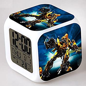 Enjoy Life : Cute Digital Multifunctional Alarm Clock With Glowing Led Lights and Transformers sticker, Good Gift For Your Kids, Comes With Bonuses ...