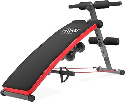 FITFIU Fitness BA 20 Banc de musculation pliable pour muscles abdominaux et dorsaux réglable en Hauteur, Banc Abdominaux et dorsaux Fitness Sport