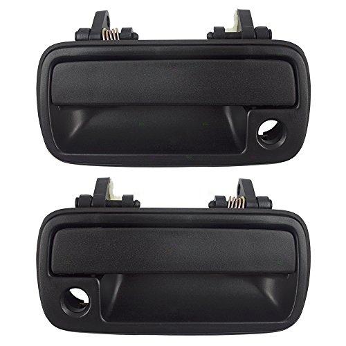 (Pair Set Front Outside Exterior Textured Door Handles Replacement for Chevrolet Geo Tracker Suzuki Sidekick 30003478 30003477)