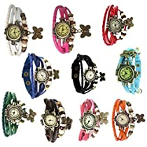 Swadesi Stuff Stylish Multicolored Bracelet watch Combo of 1