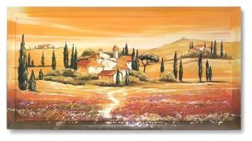 Kunstdruck Bild Toskana Mit Rahmen Mediterran Italien Wohnzimmer PREIS HIT