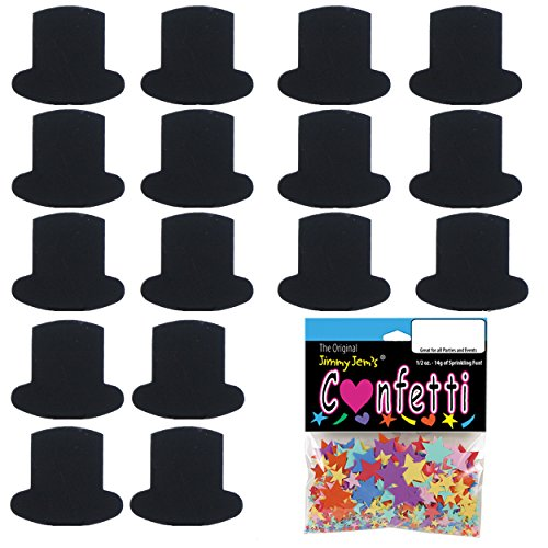Black Oz Top Hat (Confetti Top Hat Black - 2 Half Oz Pouches (1 oz) FREE SHIPPING --- (8695))