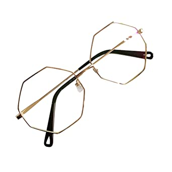 17eca7ac4a Men Women Polygon Glasses - Clear Lens Glasses Frame - Fashion Eyeglasses  Eyewear - hibote  122912  Amazon.co.uk  Clothing