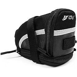 BV Bicycle Strap-On Saddle/Seat Bag, Medium, Black