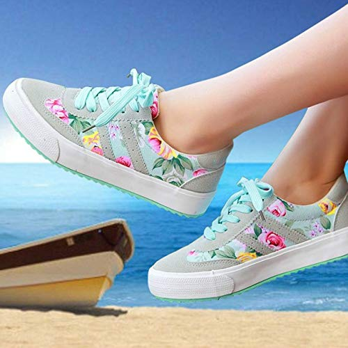 Feminino Shoes Women Women Sneakers Shoes Casual XINGMU Printed Woman Breathable Canvas Shoes Black d8wIfq