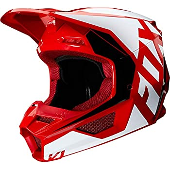 Fox Racing 2019 Navy Blue and Red Adult V1 Przm Helmet Off Road MX ATV 21773-248