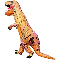 T-Rex Dinosaurio Disfraz Unisex Teen inflable Blow Up Fancy Dress Animal Outfit