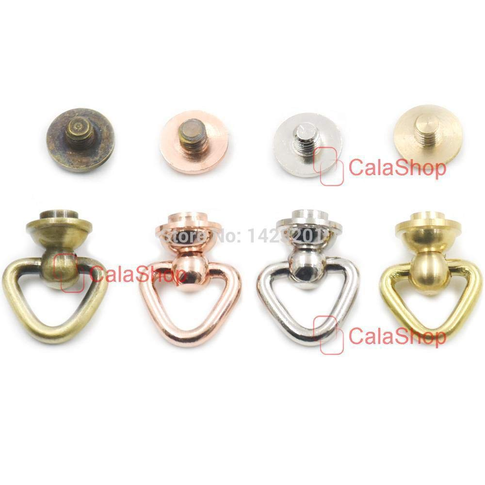 Solid BRASS CONNECTOR JOINT Medium Wallet Chain Rope Key Safety Hardware Leather
