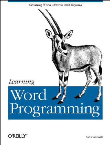 Learning Word Programming: Creating Word Macros and Beyond (Cool Words Beginning With E)