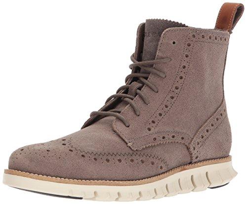 Cole Haan Mens Zerogrand Wingtip Fashion Boot Tonal Rock Suede/Ivory EAvUQPGIM8