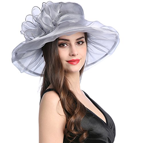 MissCynthia Women's Organza Church Kentucky Derby Fascinator Tea Party Wedding Hat
