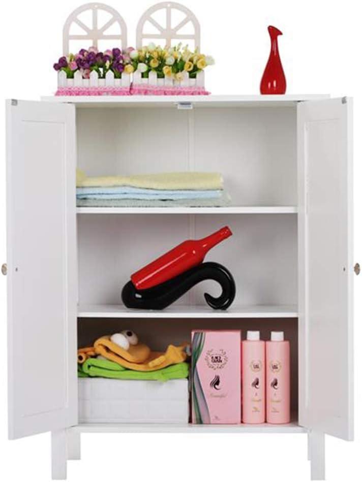 Bathroom Storage Cabinet Waterproof and Moisture-Proof Double Doors Free-Standing Floor Cupboard