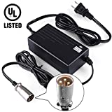 Sporting Goods : LotFancy 24V 2A Scooter Battery Charger for Jazzy Power Chair,Pride Hoveround Mobility,Schwinn S300 S350 S400 S500 S650,Ezip 400 500 650 750 900 Mountain Trailz,Shoprider,Golden Buzzaround Lite