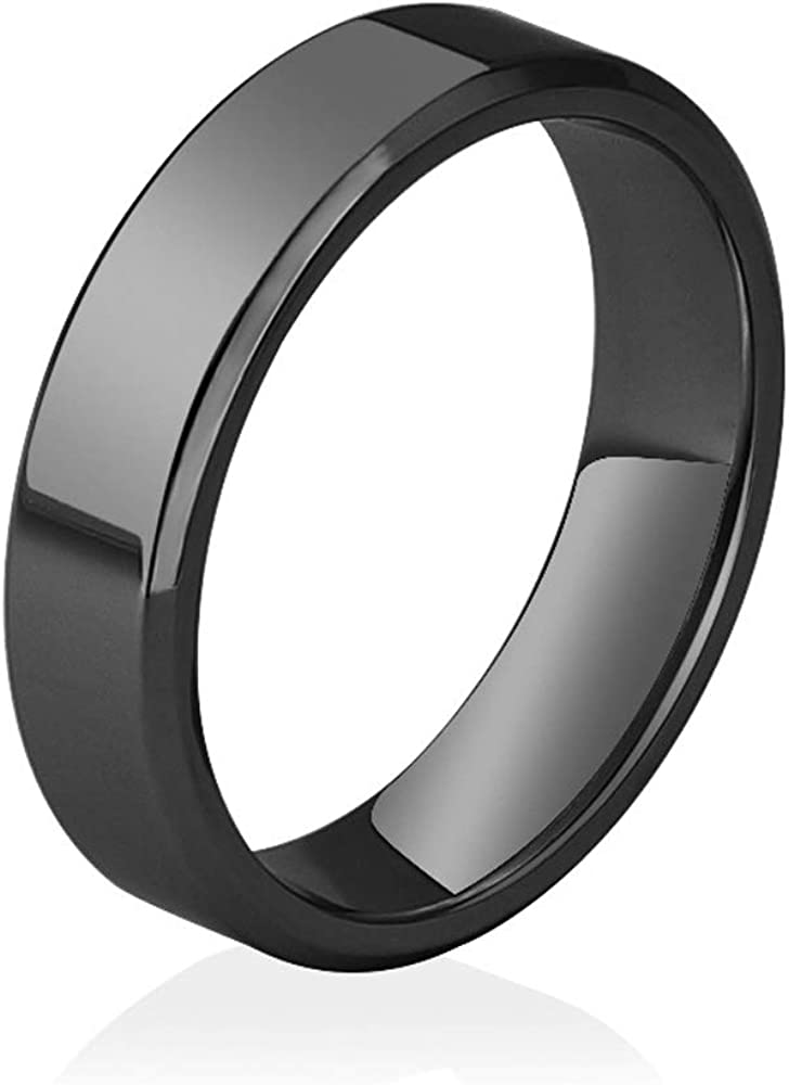 RISOMI Titanium Ring Stainless Steel Wedding Band for Unisex