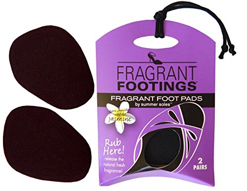 Summer Soles Fragrant Footings Ball of Foot Womens Insole for Sandals, Pumps, Flats to Reduce Moisture