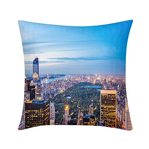 Double Sided Digital Printing Personalized Custom Throw Pillow New York Central Park View Design for Sofa Bedroom Office Car Decorate Pillow