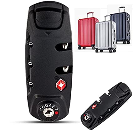 Shomy 8.3 * 3.1cm 3 Digit Combination Padlock TSA Lock Luggage Suitcase Travel Bag Code Lock Black Combination Lock