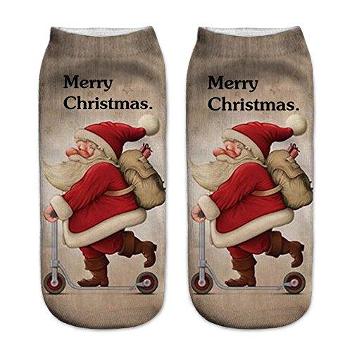 1 Paar / 13 Paar Vrouwen Warme Fuzzy Pluizige Sokken 3d Gedrukt Kerst Vrouwen Casual Leuke Sokken Super Zachte Gezellige Thuis Slipper Sokken Door Faber3 (m) Set Van Vier Stks