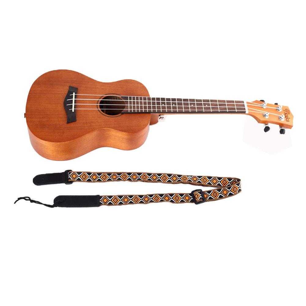 Sguan-wu Ajustable Jacquard Weave Espesar Faux Leather Ends Guitarra Ukulele Correa