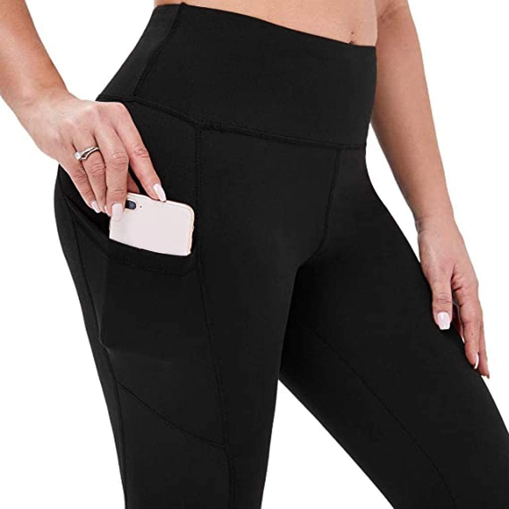 NLGToy Womens Stretch Yoga Leggings Fitness Running Gym Sports Pockets Active Pants