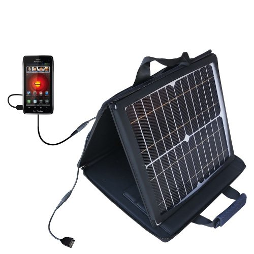 Gomadic SunVolt High Output Portable Solar Power Station designed for the Motorola DROID 4 / XT894 - Can charge multiple devices with outlet speeds by Gomadic
