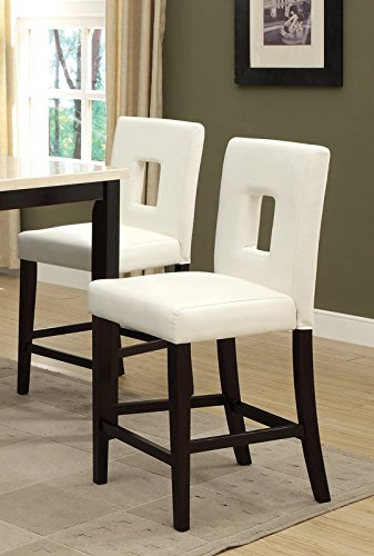 Price Tracking For Clifton Ivory Leather Counter Stools W Brass Nailheads Set Of 2