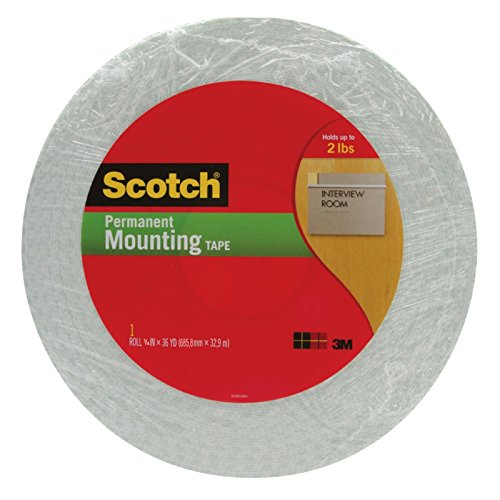 3M(TM) Double Coated Urethane Foam Tape Off-White, 3/4-Inch x 36 Yards 1/16-inch Off-White - 3 4016 Tape Meter