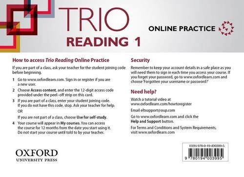 Download Trio Reading: Level 1: Online Practice Student Access Card ebook