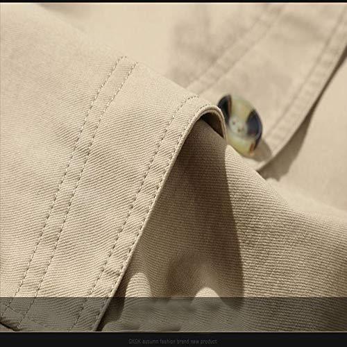 Ouguan® Fit Foncé Décontracté Trench Homme Blouson Classique Jacket Hiver Veste Coat Slim Manteaux Court Automne Kaki Pw1Zx1n