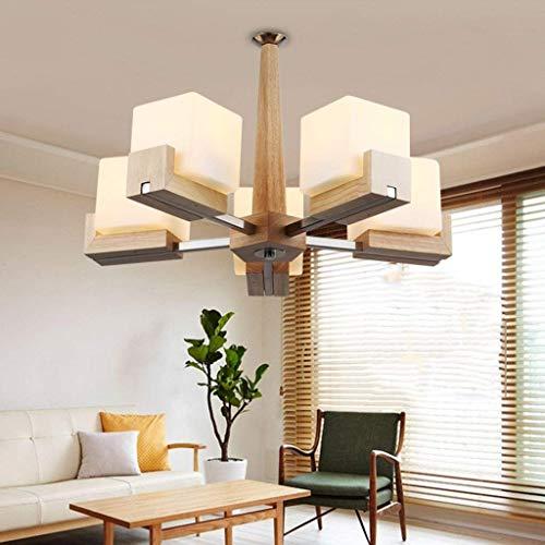 Luminaire Glass Table Lamp - OLI Chandelier - Simple Solid Wood Chandelier, Bedroom Dining Room, Interior Lighting,60cm