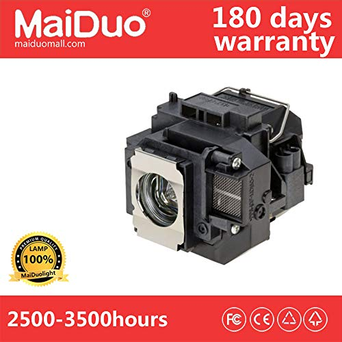 MaiDuoTech Replacement Compatible Projector Lamp Bulb for Epson V13H010L56/ELPLP56 with Housing for Home Cinema PowerLite Epson EB-W8D,EH-DM3 MovieMate 60 62