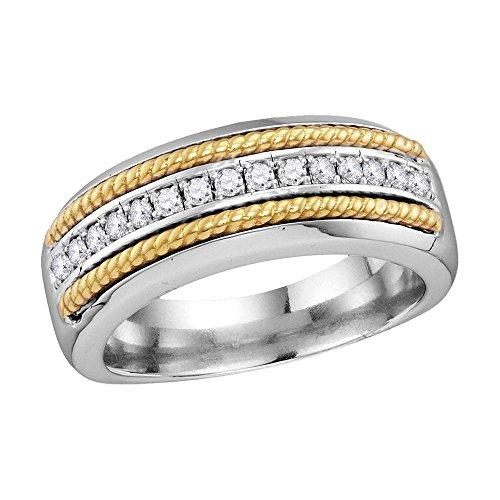 Yellow Gold Diamond Rope Ring - 8
