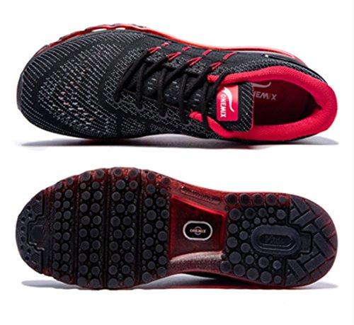 Langue De Rouge Spécial Engrener Poids Et Léger Respirant Course Hommes Noir Onemix Conception Baskets Chaussures wR4XUTq