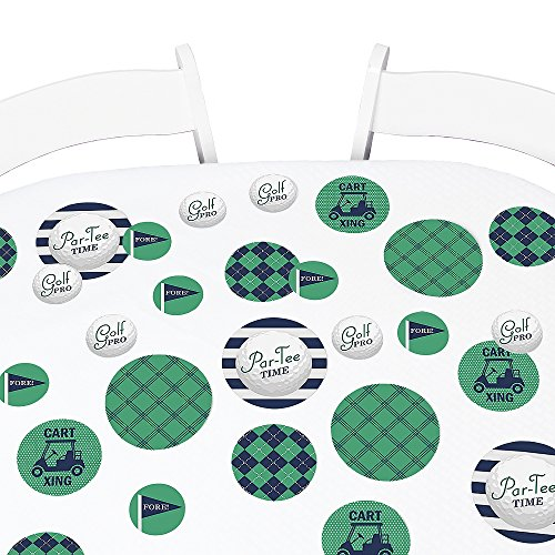 Big Dot of Happiness Par-Tee Time - Golf - Birthday or Retirement Party Giant Circle Confetti - Party Decorations - Large Confetti 27 Count]()