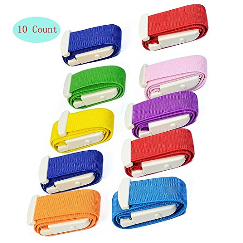 10-Pack Tourniquet Elastic First Aid Quick Release Medical Sport Emergency Buckle Band(Random Color)