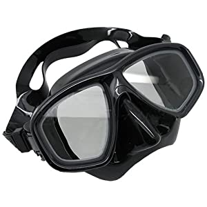 Scuba Choice Scuba Choice Black Diving Dive Snorkel Mask Nearsighted Prescription RX Optical Corrective Lenses, -3.5